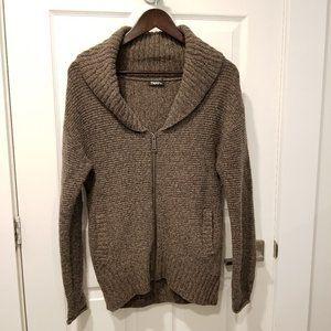 TNA - Brown Wool Zip up Sweater